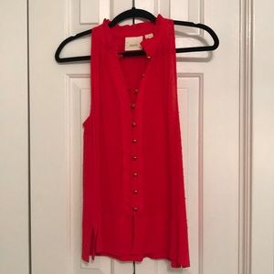 Anthropologie Maeve Red Top- XS